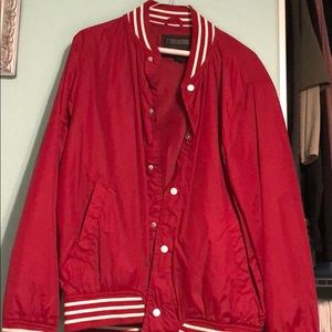 F21 red jacket